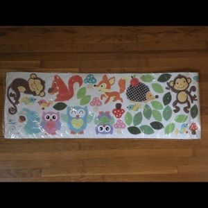 Woodland animals and tree vinyl wall decals